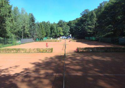 Tennisplatz Queransicht